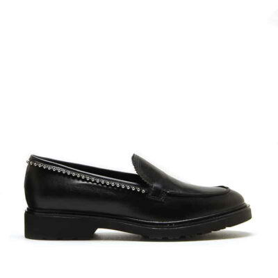 MICHELE LOPRIORE - 7110 - Nappa leather loafer with studs - 001