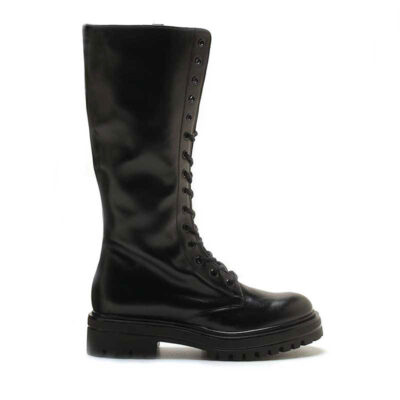 MICHELE LOPRIORE - 7113 - To-the-knee leather combat boots - 001