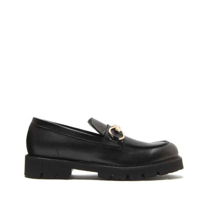 MICHELE LOPRIORE - 7116IN - Leather loafer with buckle - 001