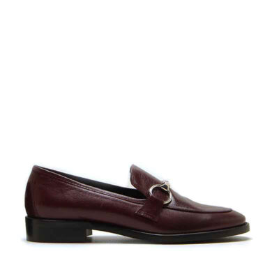 MICHELE LOPRIORE - 985 - Patent leather loafer with buckle - 001