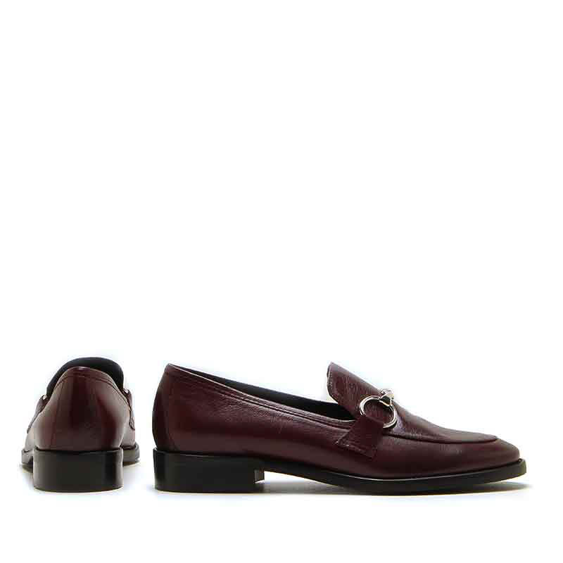 MICHELE LOPRIORE - 985 - Patent leather loafer with buckle - 002