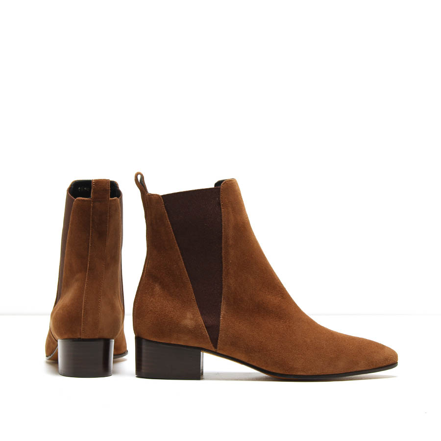MICHELE LOPRIORE - A44184 - Nappa ankle boots with elastic boots - 002