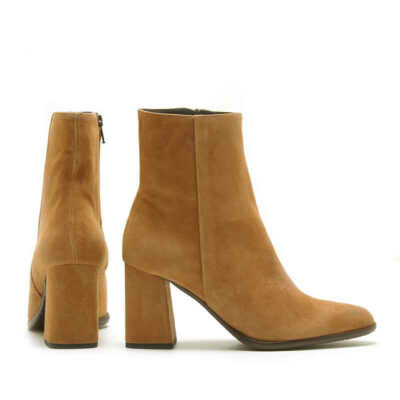 MICHELE LOPRIORE - A45007 - Nappa leather ankle boots with rock heel - 001
