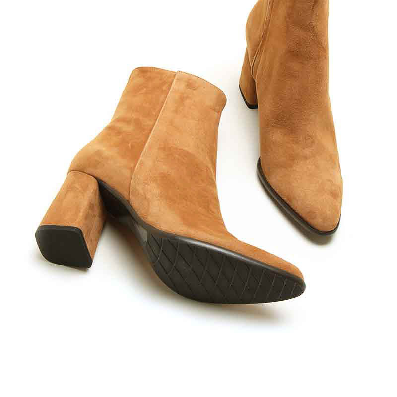 MICHELE LOPRIORE - A45007 - Nappa leather ankle boots with rock heel - 002