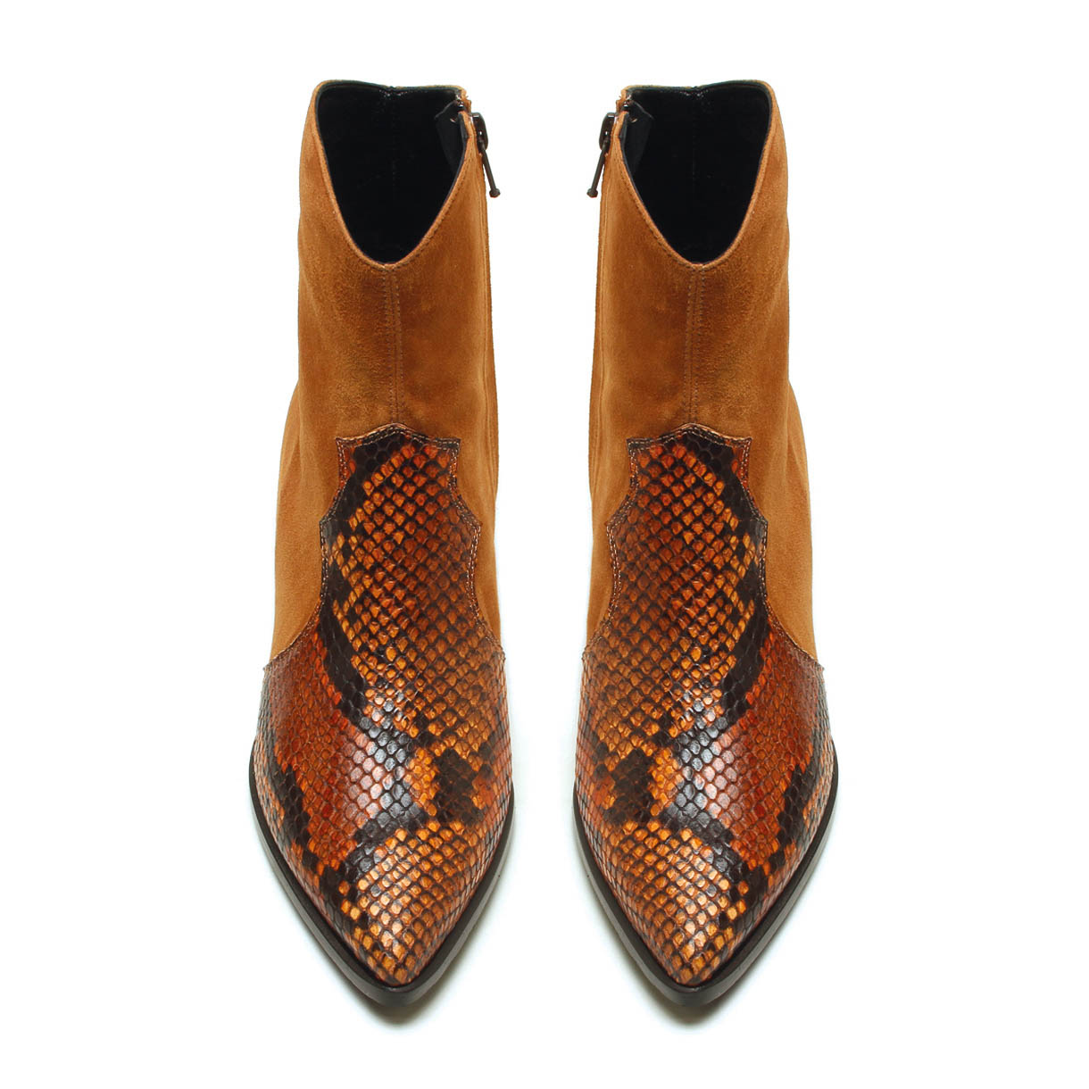 MICHELE LOPRIORE - A45025 - Cowboy suede and printed leather boots - 002