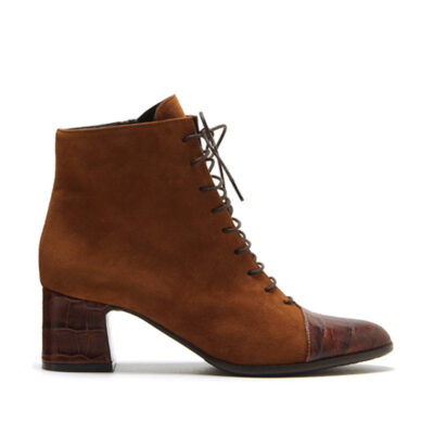 MICHELE LOPRIORE - A46013 - Suede lace-up ankle boots - 001