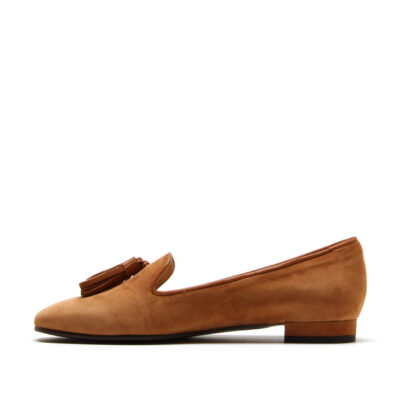 MICHELE LOPRIORE - E33313N - Leather slippers with leather tassels - 002