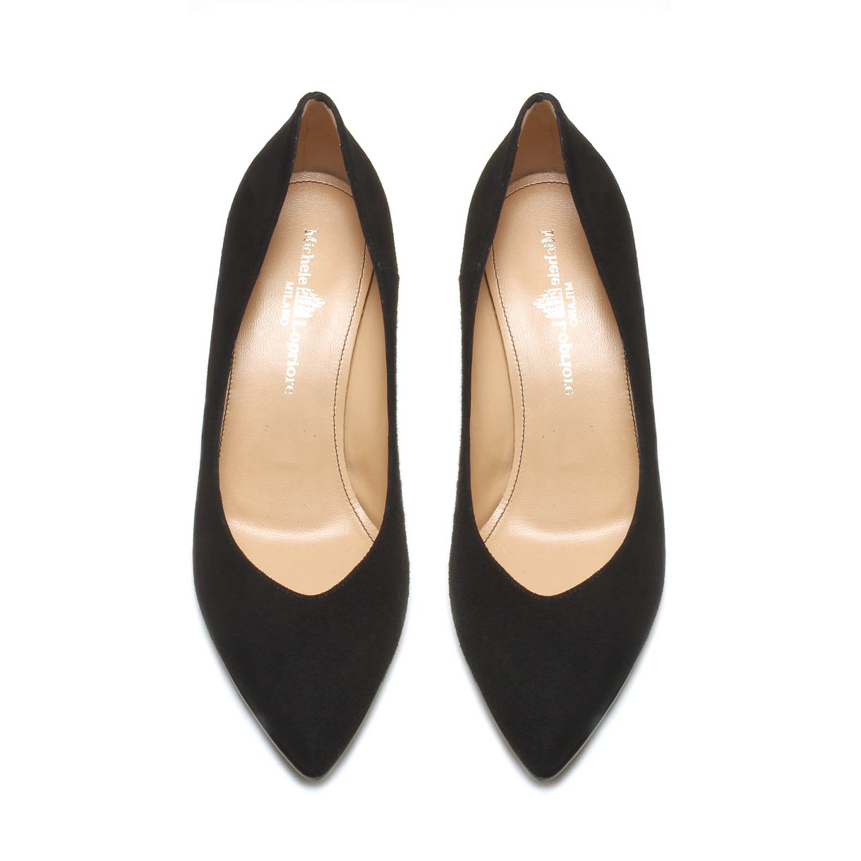 MICHELE LOPRIORE - E33334 - Suede décolleté with spool heel - 002