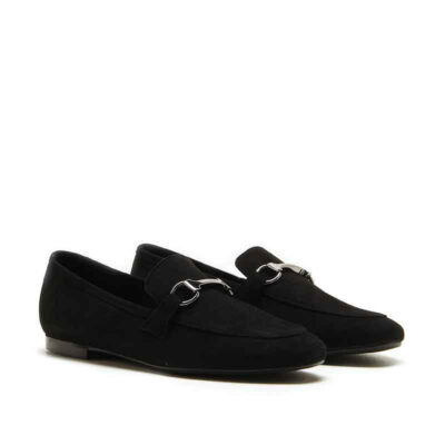 MICHELE LOPRIORE - Q595 - Hard-suede loafer with buckle - 001