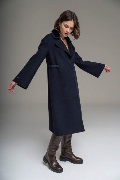 MANZONI 24 - 21M312 - L.Piana cashmere coat with mink and leather thongs - 001