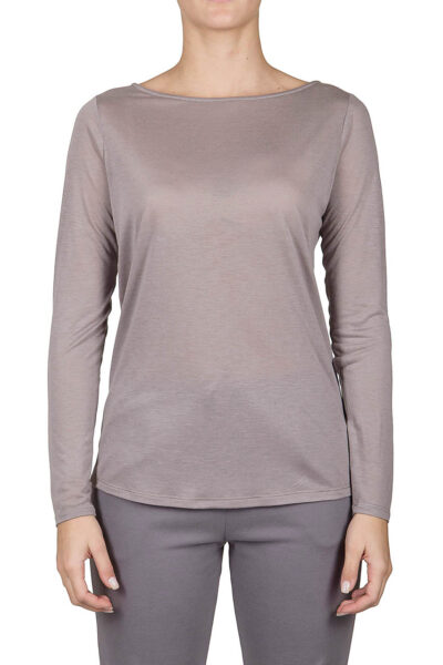 PUROTATTO - 1190 - Boat neck long-sleeved t-shirt - 001