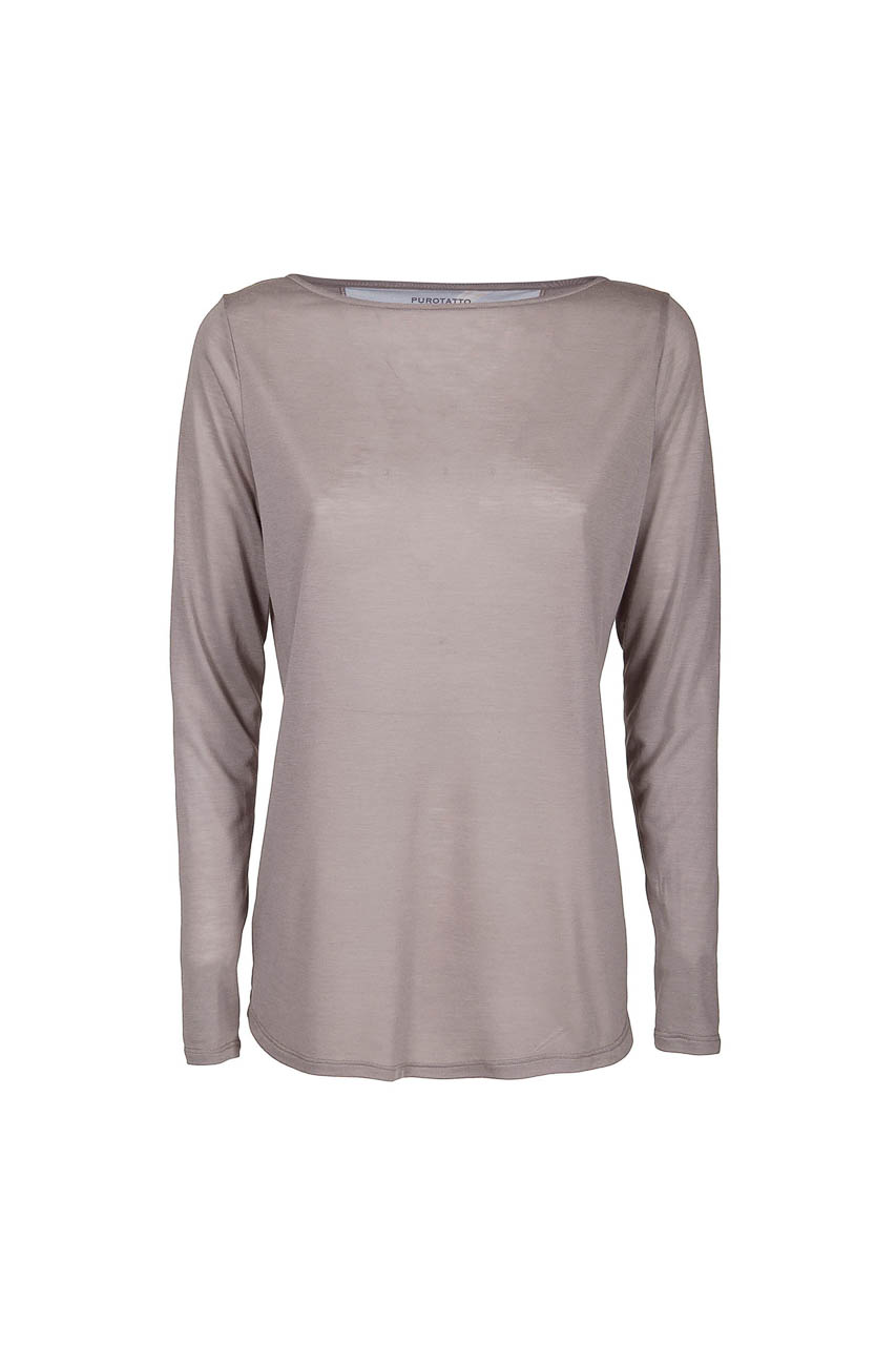 PUROTATTO - 1190 - Boat neck long-sleeved t-shirt - 002
