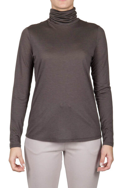 PUROTATTO - 1200 - Turtle neck long-sleeved t-shirt - 001