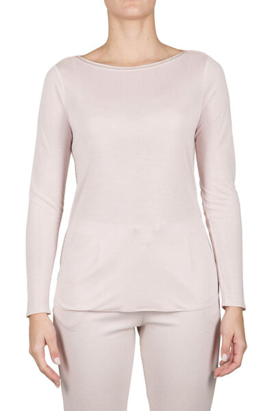 PUROTATTO - 1302 - Boat neck long-sleeved t-shirt