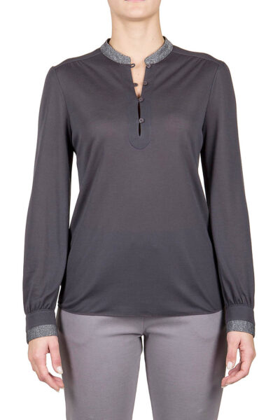 PUROTATTO - 1308 - Long-sleeved blouse