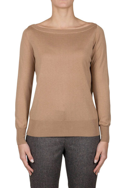 PUROTATTO - 2008 - Boat neck long-sleeved sweater - 001