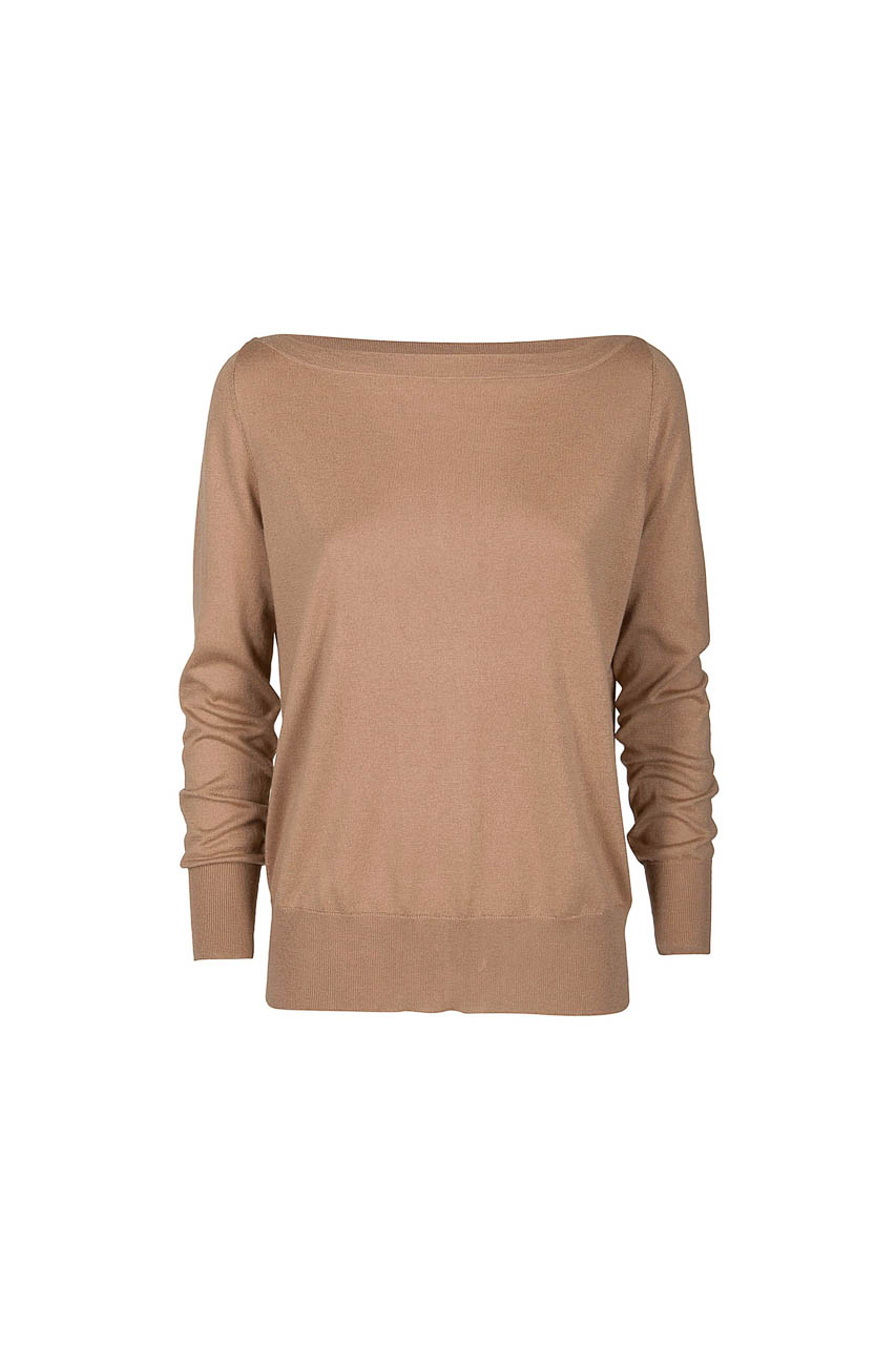 PUROTATTO - 2008 - Boat neck long-sleeved sweater - 002