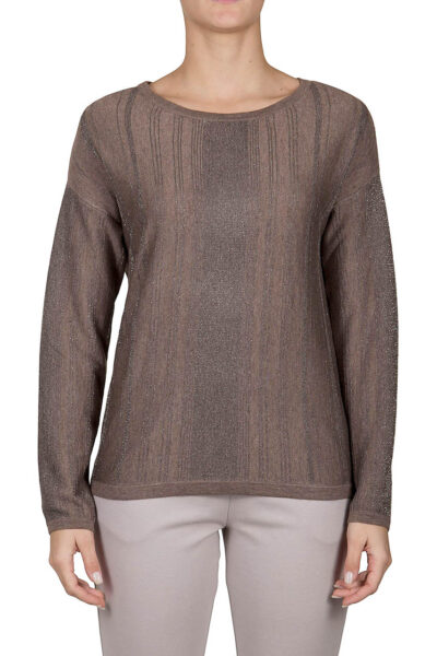 PUROTATTO - 2010 - Boat neck long-sleeved sweater
