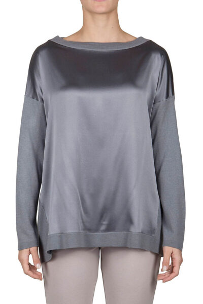 PUROTATTO - 2012 - Boat neck long-sleeved sweater