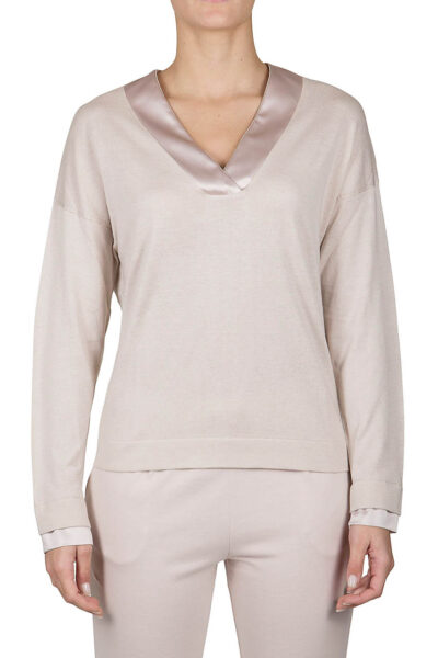 PUROTATTO - 2013 - V-neck long-sleeved sweater