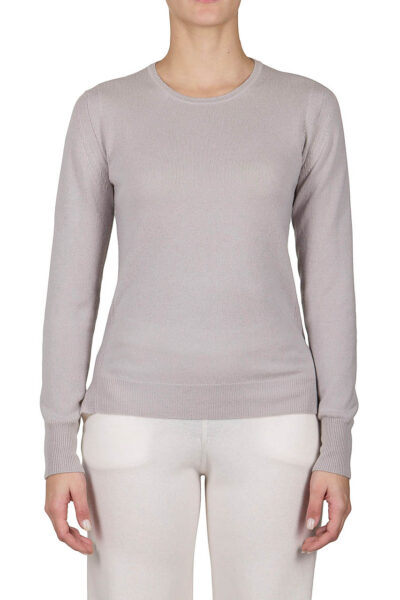PUROTATTO - 2100 - Round neck slim-fit sweater with long sleeves - 001