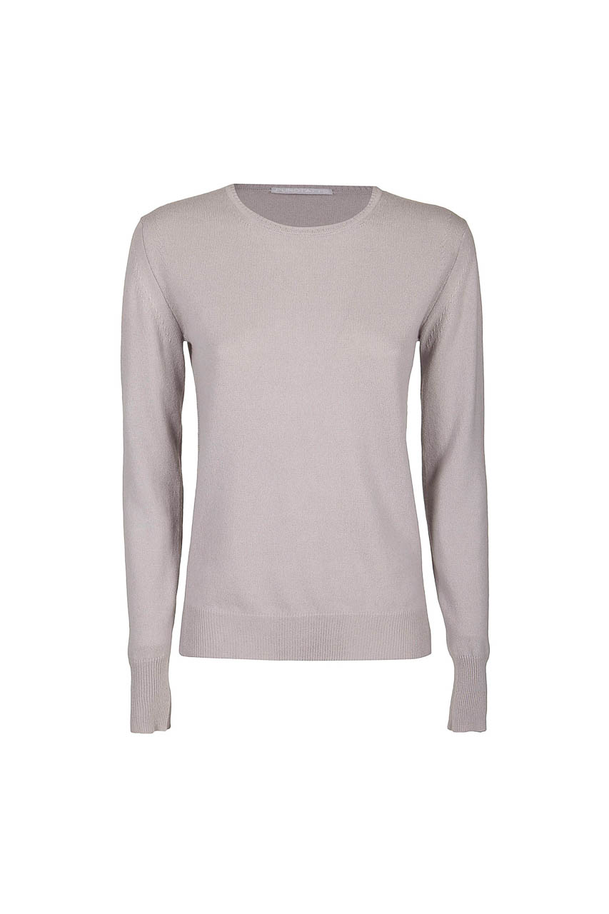 PUROTATTO - 2100 - Round neck slim-fit sweater with long sleeves - 002