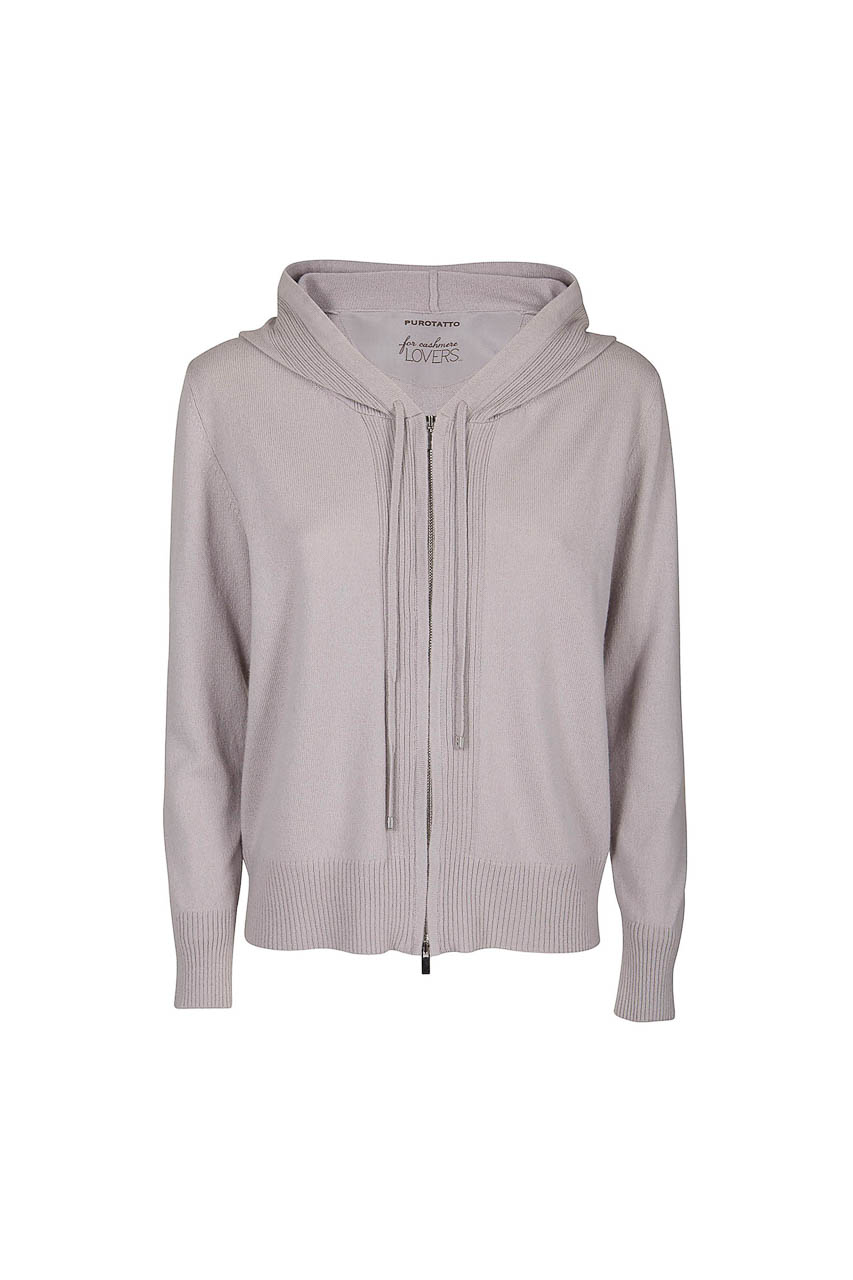 PUROTATTO - 2109 - Hooded sweater with long sleeves - 002