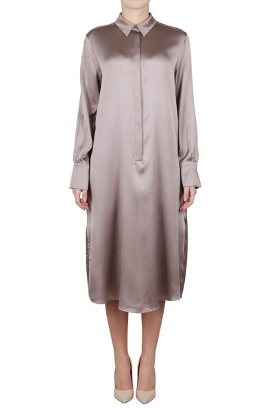 PUROTATTO - 4000 - Dress with piping in side split - 001