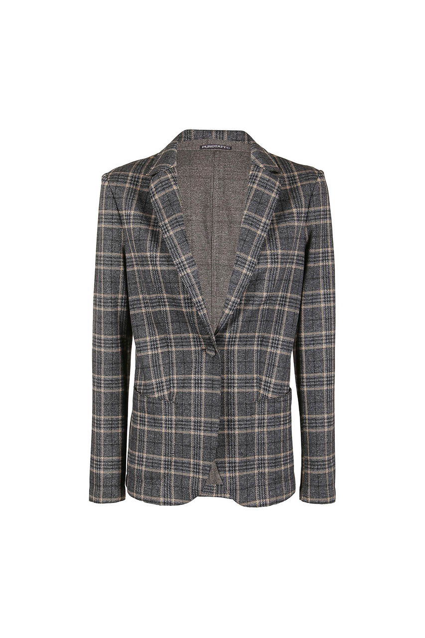PUROTATTO - 8001 - Jacquard jacket with patch pockets - 002