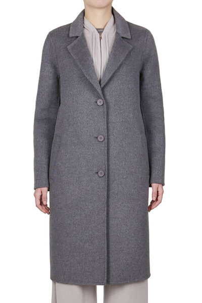 PUROTATTO - 8011 - Coat in double wool and cashmere with welt pockets - 001