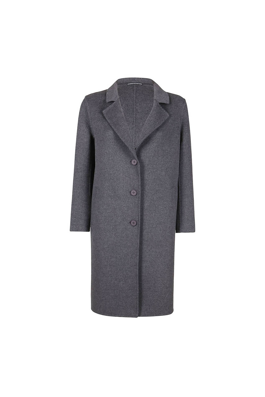 PUROTATTO - 8011 - Coat in double wool and cashmere with welt pockets - 002