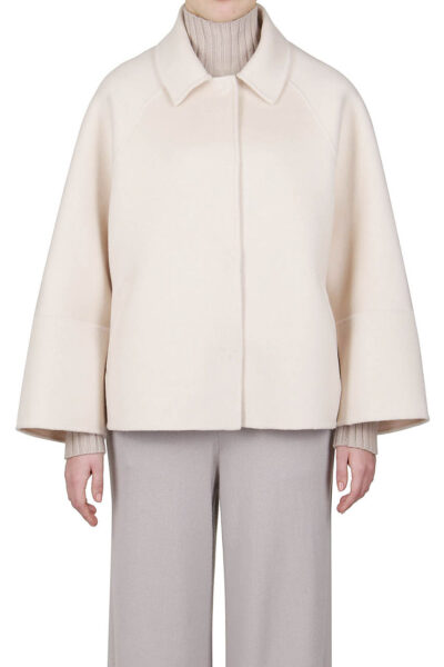 PUROTATTO - 8015 - Jacket in double wool and cashmere with welt pockets - 001