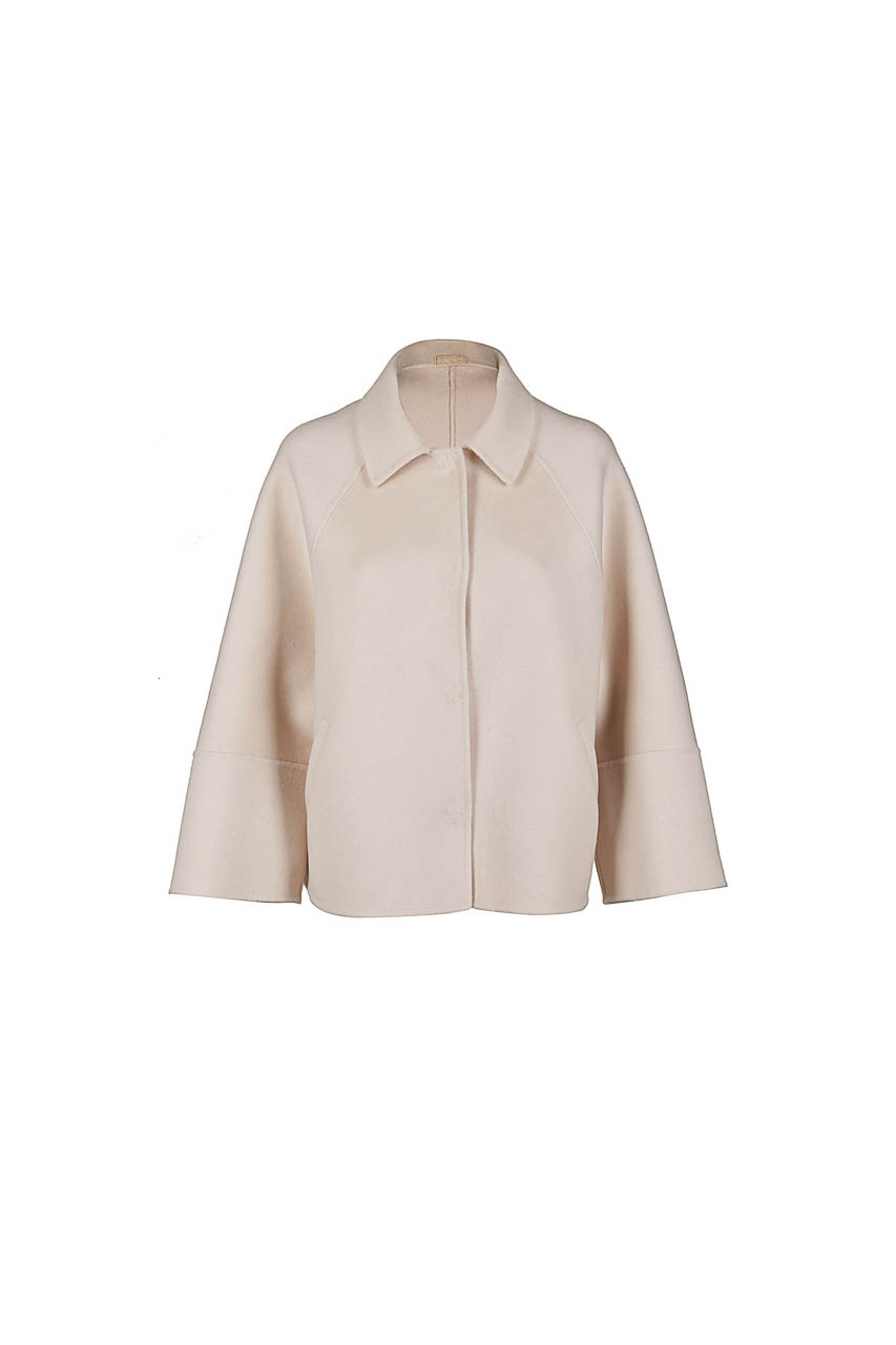 PUROTATTO - 8015 - Jacket in double wool and cashmere with welt pockets - 002