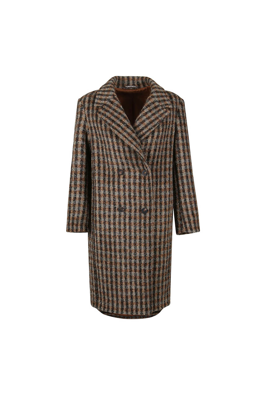 PUROTATTO - 8021 - Double-breasted coat - 002