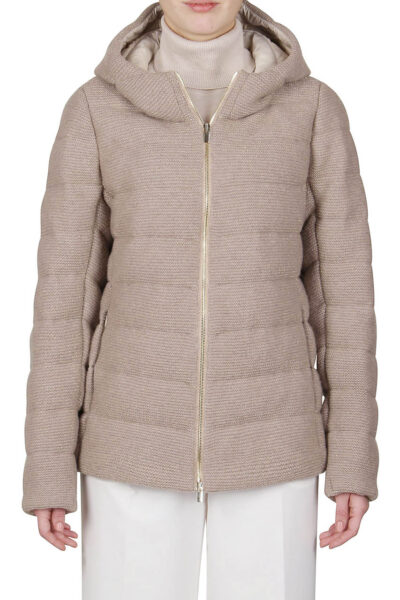 PUROTATTO - 8050 - Down padded jacket with lurex knit - 001
