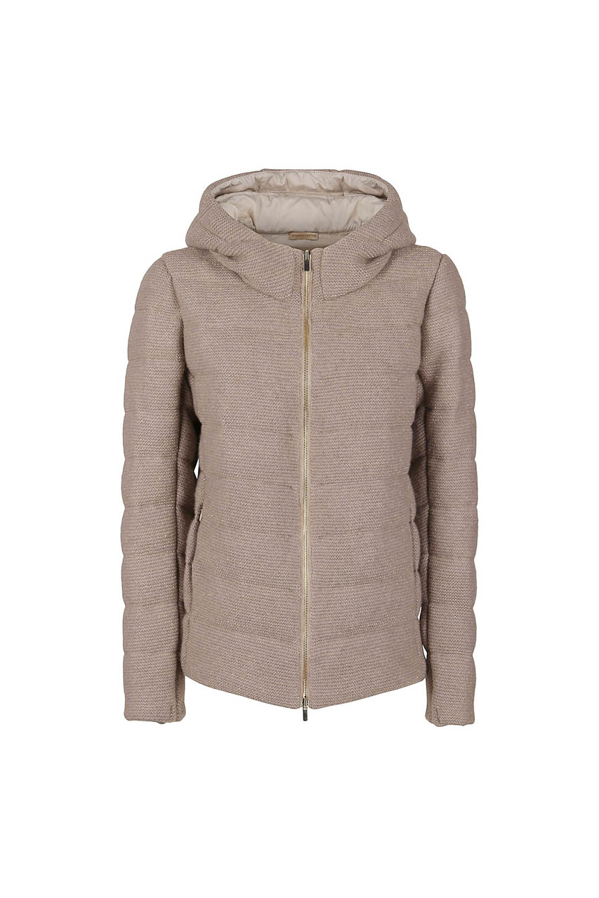 PUROTATTO - 8050 - Down padded jacket with lurex knit - 002